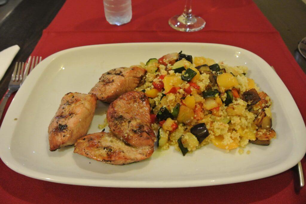 豚肉のローストと野菜の炒め物
