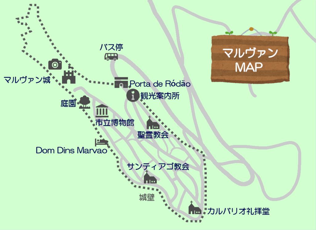 マルヴァン市街地図